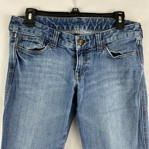 Express 6 Short Low Rise Flare Jeans 55285